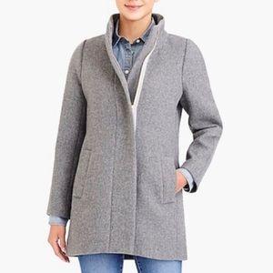 J. Crew Mercantile Gray Wool City Coat Size 6